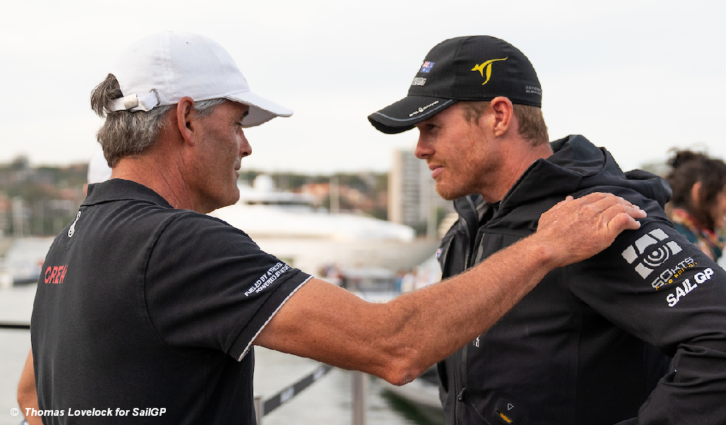 SailGP - Russell Coutts und Tom Slingsby